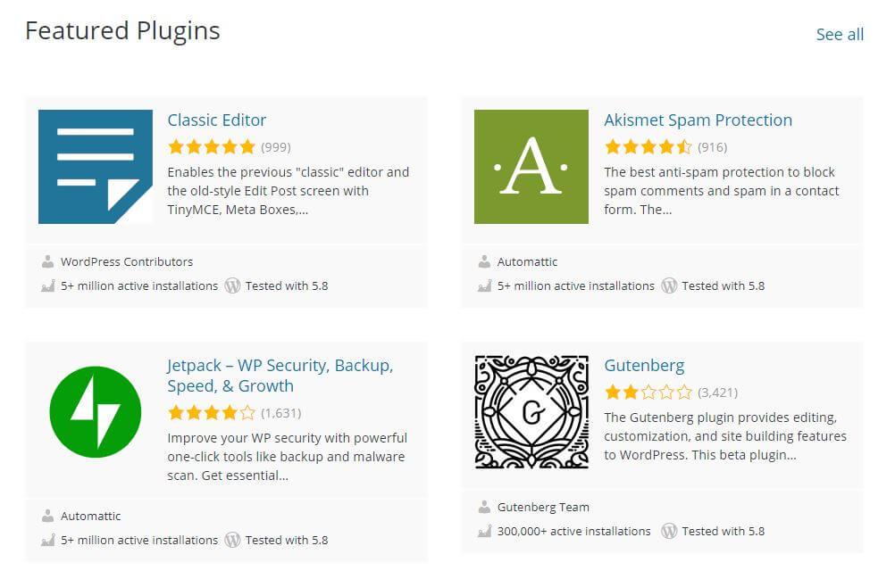 install plugins - featured wordpress plugins