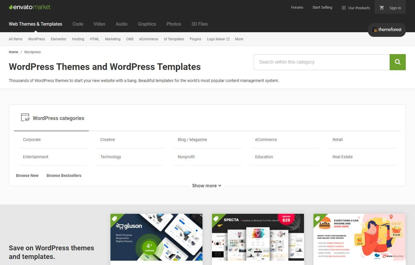 Choose a theme that appeals to you - themeforest