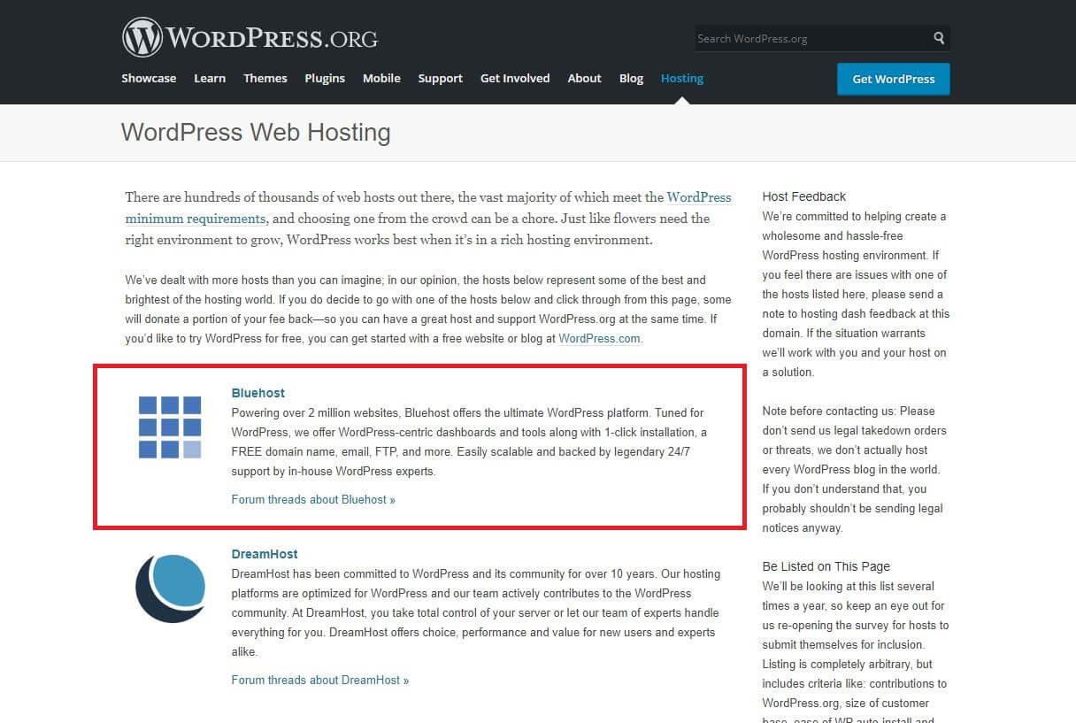 WordPress Web Hosting Recommendation
