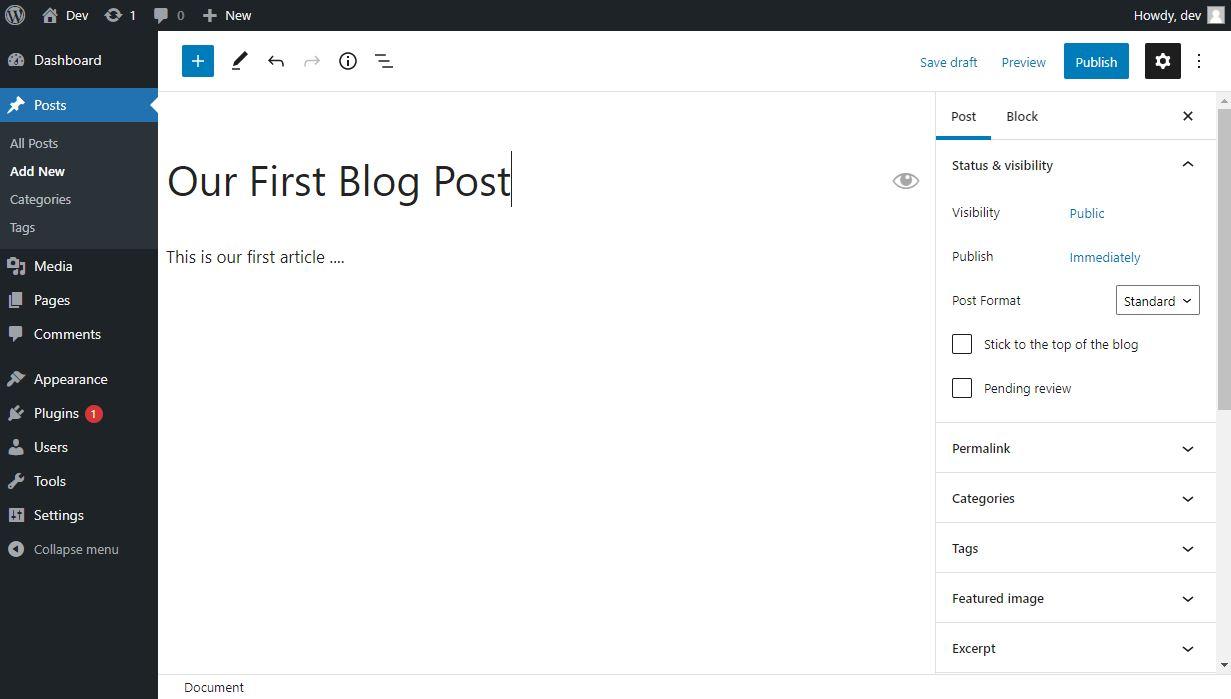 wordpress add new posts